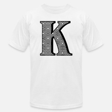 Personalized K Initial - Unisex Jersey T-Shirt