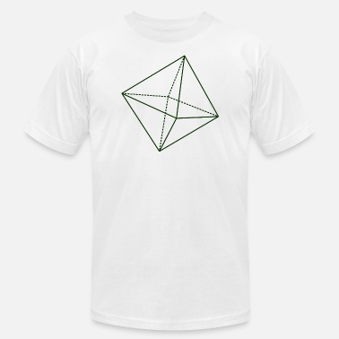 Octahedron Octahedron Geometry Present Art Design Green - Men's Jersey T-Shirt
