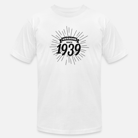 Birthday T-Shirts - Awesome since 1939 - Men's Jersey T-Shirt white