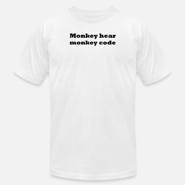 Code Monkey Monkey hear monkey code - Men's Jersey T-Shirt