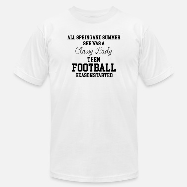 Funny Football Football - She Was a Classy Lady Then Football S - Men's Jersey T-Shirt