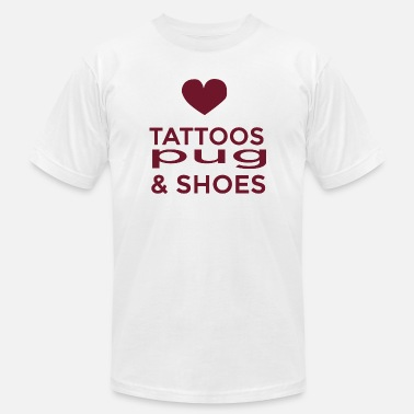 Pug - tattoos pug and shoes - Men's  Jersey T-Shirt