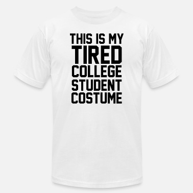 College Sports Geek College Student Costume - This Is My Tired Colle - Men's  Jersey T-Shirt