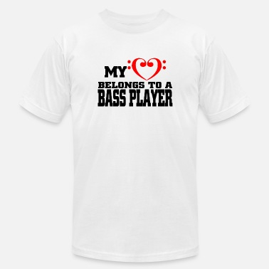 Shouter Bass player - my love belongs to a bass player - Men's  Jersey T-Shirt