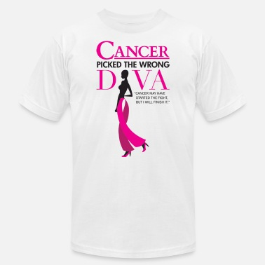 Running Diva CANCER PICKED THE WRONG DIVA - Men's  Jersey T-Shirt