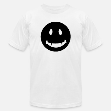 Fang-face Funny Happy Face T Shirt Smiley Face With Fangs Te - Men's Jersey T-Shirt