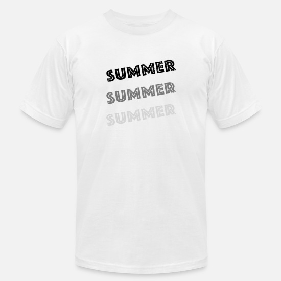 Area Code T-Shirts - Summer Summer Summer -grey - Men's Jersey T-Shirt white