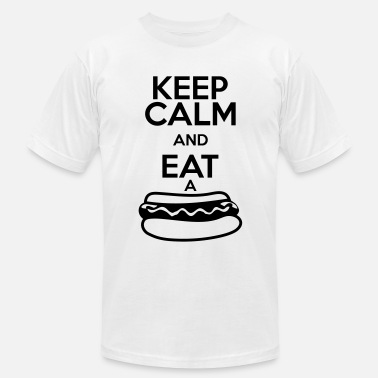 Hot Dog KEEP CALM AND EAT A HOT DOG - Men's Jersey T-Shirt