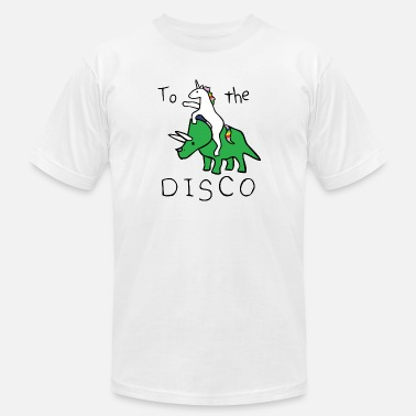 Dinosaur To The Disco vectorized - Men's Jersey T-Shirt