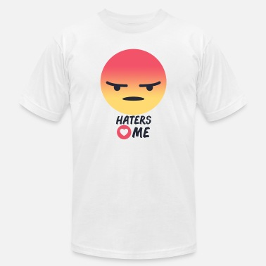 Bashers Haters Loves Me - Men's Jersey T-Shirt