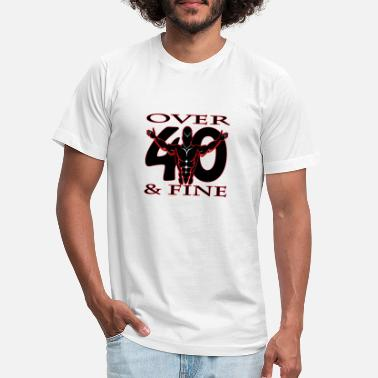 Over 40 Over 40 & Fine Red - Unisex Jersey T-Shirt
