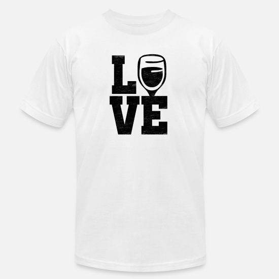 Wine T-Shirts - Love Wine - Men's Jersey T-Shirt white