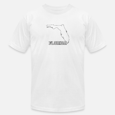 Florida Map Florida Map - Florida - Total Basics - Men's  Jersey T-Shirt