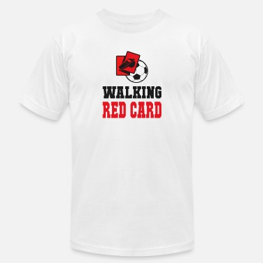 Red Walking red card referee soccer design - Unisex Jersey T-Shirt