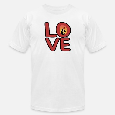 Present Love Boyfriend Girlfriend present christmas - Unisex Jersey T-Shirt