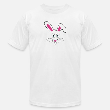 Cute Easter Bunny Face - Unisex Jersey T-Shirt