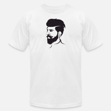 Undercut Beard Bearded Hipster Earpods Airpods Hairstyle - Men's Jersey T-Shirt
