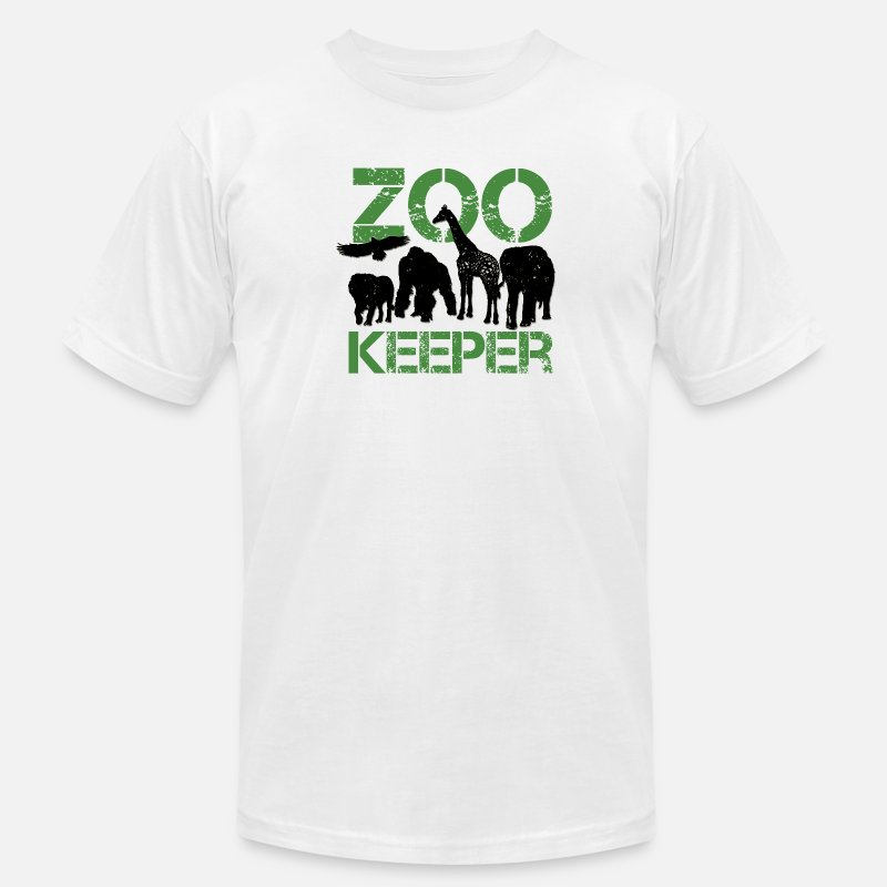 Keeper T-Shirts - zoo keeper - Men's Jersey T-Shirt white