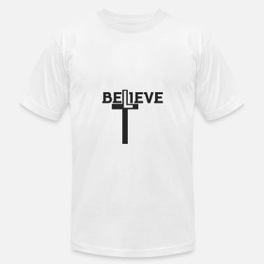 Verses Design BELIEVE - Bible Verse - D3 Designs - Men's  Jersey T-Shirt