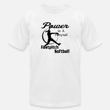 Breast Pitcher Power in a softball - Men's  Jersey T-Shirt