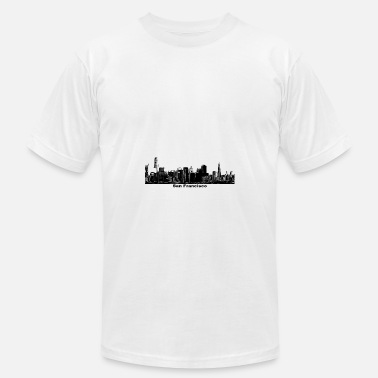 California St San Francisco California Skyline - Men's  Jersey T-Shirt