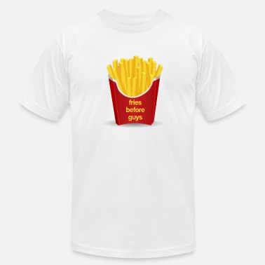 Funny Nom Nom Nom Meme Fries Before Guys - Men's  Jersey T-Shirt