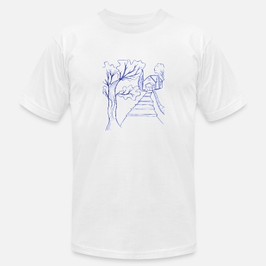 Tree Line line tree - Men's Jersey T-Shirt
