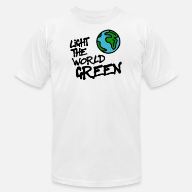 Lovely Colour the world in green - Unisex Jersey T-Shirt