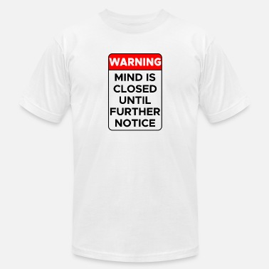 Warning Sign Warning Sign - Men's  Jersey T-Shirt