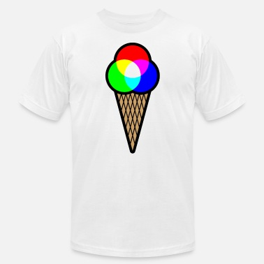 Science Of Colours RGB Ice (Red Green Blue Ice Cream) - Unisex Jersey T-Shirt