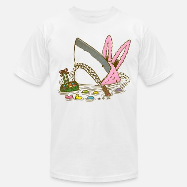 Easter The Easter Shark, Funny Easter,Cute Bunny In Shark - Unisex Jersey T-Shirt