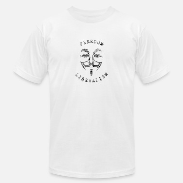 Freedom and Liberalism – Anonymous - Men's Jersey T-Shirt