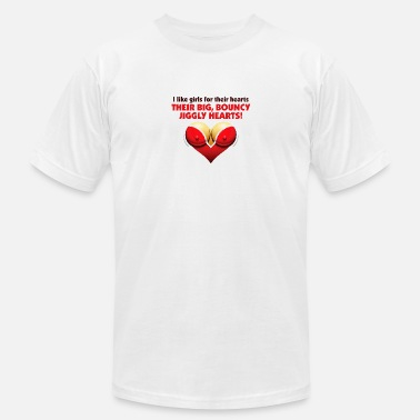 Nipples I Like Girls With Big,Bouncy Jiggly Hearts! - Men's Jersey T-Shirt