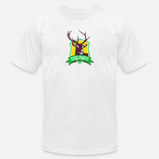 Stag T-Shirts - Bachelor / Stag Party - Men's Jersey T-Shirt white