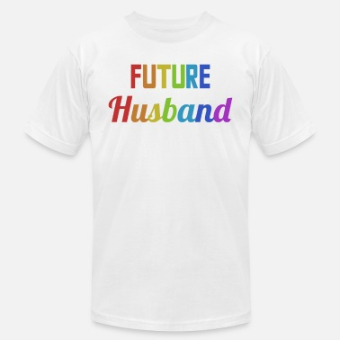Gay Couples Design Future Husband Groom Hen Party Bachelor Party - Men's  Jersey T-Shirt