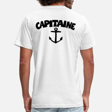 French Canadian Capitaine Anchor Captain Sailor Sailing Boating - Men's Jersey T-Shirt