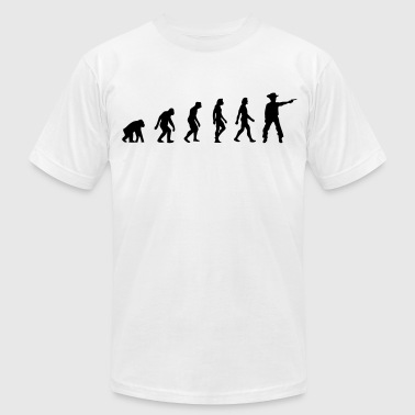 The Evolution of Cowboys - Men's Fine Jersey T-Shirt