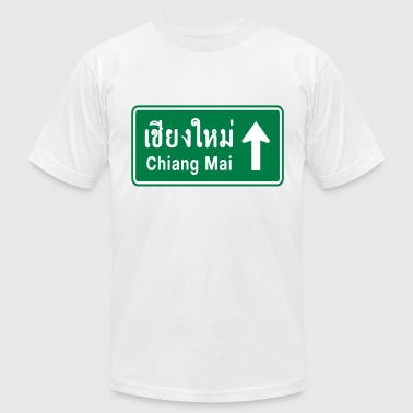 Chiang Mai, Thailand / Highway Road Traffic Sign - Men's Fine Jersey T-Shirt