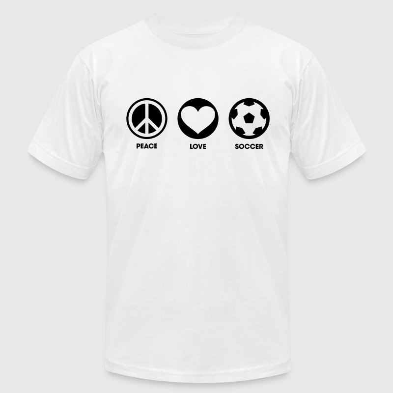 Peace Love Soccer - Men's Fine Jersey T-Shirt