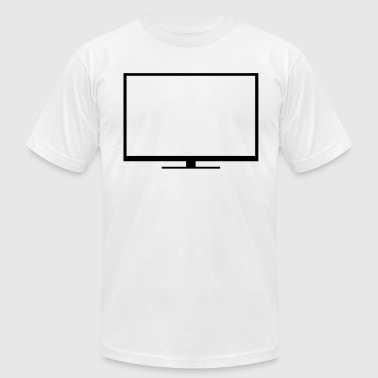 Tv,Televisions,flat screen,flatscreen,screen,LED - Men's Fine Jersey T-Shirt