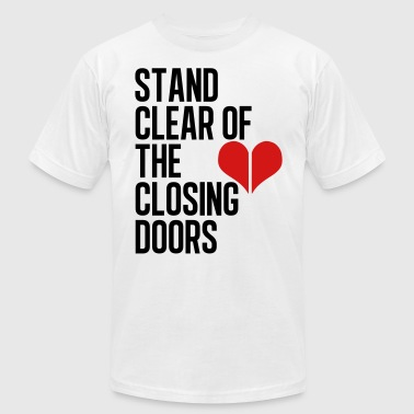 Closing doors - Men's Fine Jersey T-Shirt