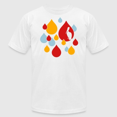 Water Drop Water Drops - Men's Fine Jersey T-Shirt
