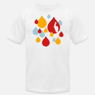 Bird Droppings Water Drops - Men's  Jersey T-Shirt
