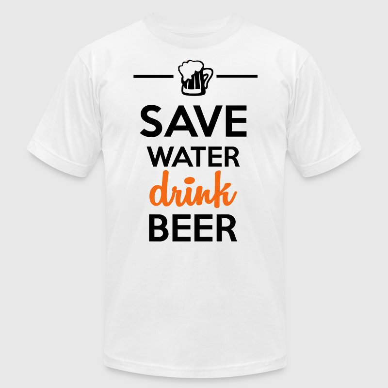 Funshirt alcohol - drink Beer Save Water - Men's Fine Jersey T-Shirt