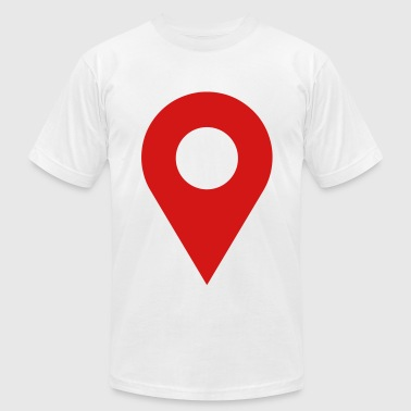 map location icon - Men's Fine Jersey T-Shirt