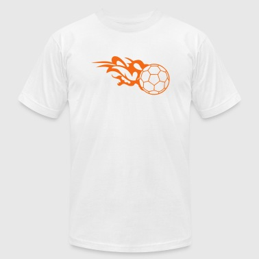 flame handball ball logo 3 - Men's Fine Jersey T-Shirt