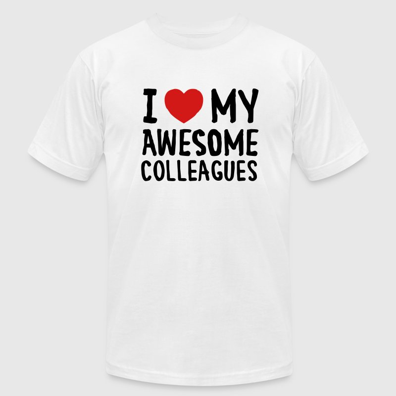 I Love (Heart) My Awesome Colleagues - Men's Fine Jersey T-Shirt