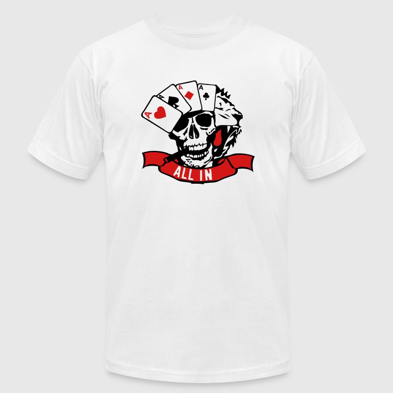 poker king lion dead skull head 1 - Men's Fine Jersey T-Shirt