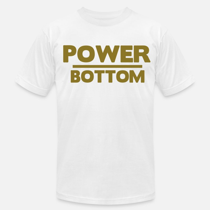 Bottom T-Shirts - POWER BOTTOM - Men's Jersey T-Shirt white