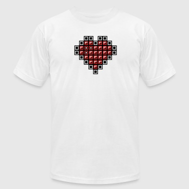 Tetris heart - Men's Fine Jersey T-Shirt